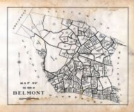 Index Map, Belmont Assessor Plans 1931